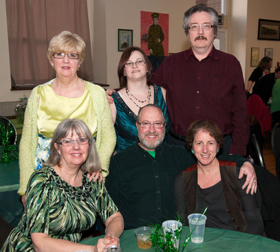 (Back) Judy, Heather, Jim and (front) Jan, Roger & Sally (Wearing of the Green, 2013)