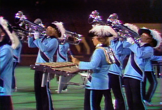 Carol Munro with Oakland Crusaders (DCI, 1976)
