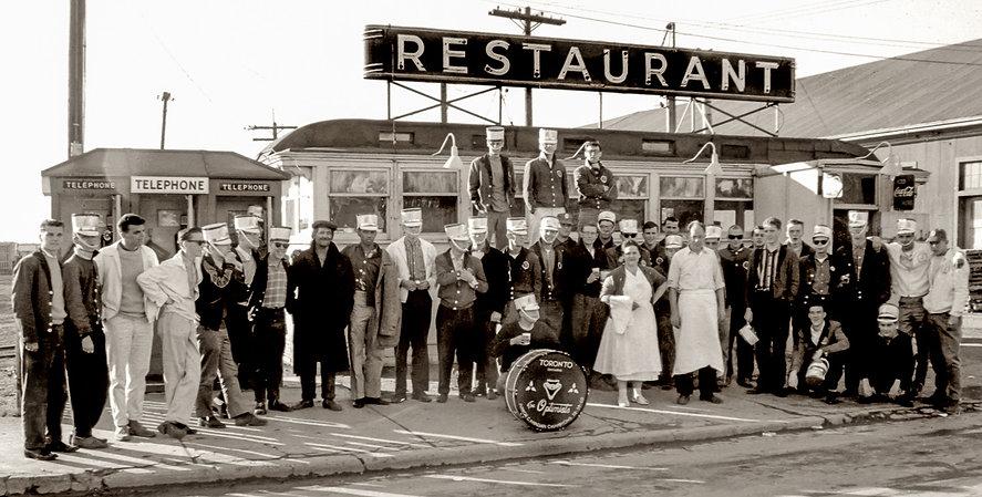 Toronto Optimists members at the docs in Toronto (1960)