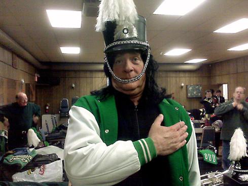 Mike Lang wearing his head warmer (Fenelon Falls, 2009)