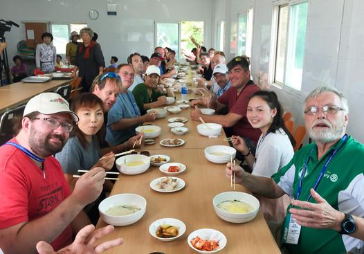Optimists Alumni sharing a meal (Jeju, South Korea, 2019)