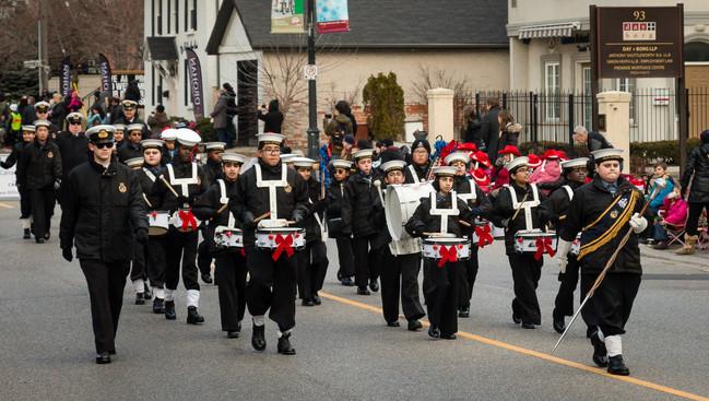 Navy League Cadet Corps (taught by Ken Taylor) (Mississauga Santa Claus Parade, 2015)