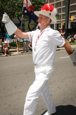 Drum Major of Scout House Alumni (Lions International Parade, Toronto, 2014)