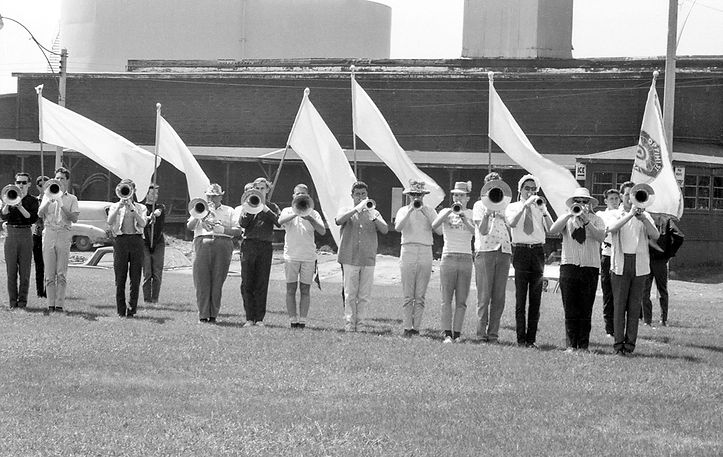 Toronto Optimists rehearsing (Keating Park, 1964)