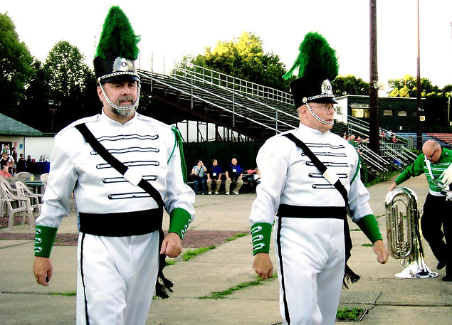 Photo by Jan Burgess  Brian and Dave were the Drum Majors for the Optimists Alumni corps in 2007.