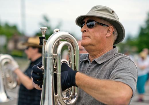 Mike Lang, Optimists Alumni rehearsing (Oshawa, June 1, 2013)