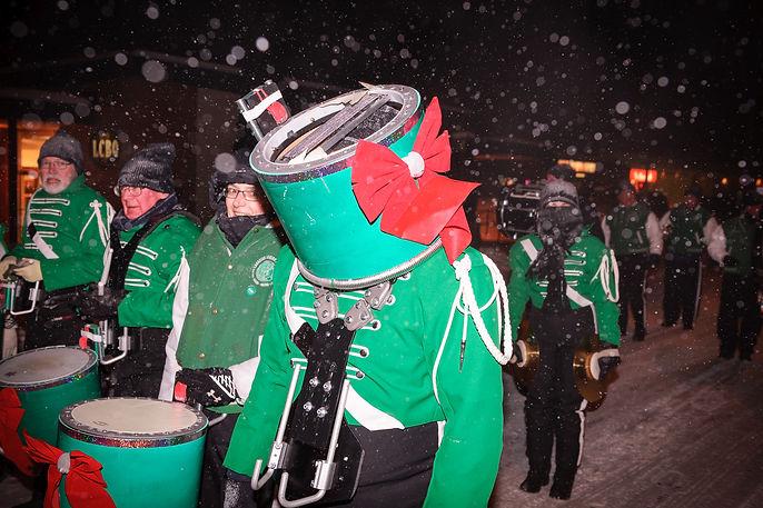 Our new drum head, Optimists Alumni (Bobcaygeon Santa Claus Parade, 2013)
