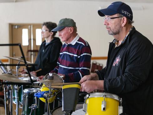 Judy, Lorne and Doug, Optimists Alumni Rehearsing (March, 2017)