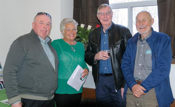 Rick Shearer, Stephanie Brenner (Thompson), Phil Hennings and Ray Roussel (Remembering Paul Thompson, 2015)