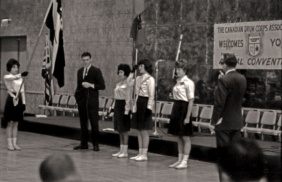 Maybe Oakville-Trafalgar Patrolmen? And that looks like Ivor Bramley announcing (1963 CDCA Conf)