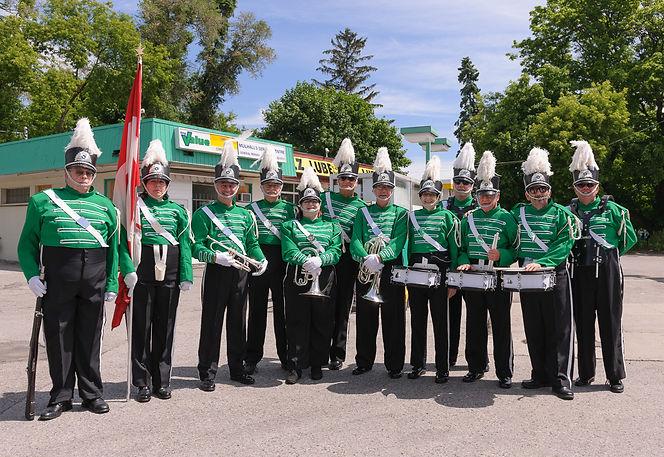 Optimists Alumni after the parade (Highland Creek Parade, 2015)