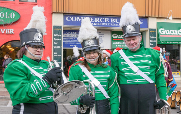 Heather Hyslop, Pat Buttigieg and Vern Reid (Oakville Santa Claus Parade, 2014)