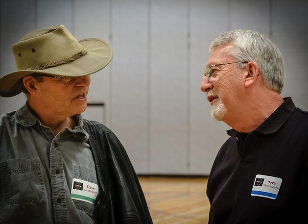 Steve Vanderkolff and Dave MacKinnon (Oktobercorps rehearsal, May 12, 2018)