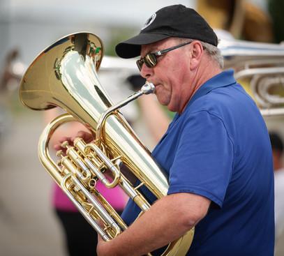 Dave Bruce, Optimists Alumni rehearsing (Waterloo, 2016)