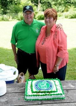 Rick & Sue Robida at the corps picnic (2010)