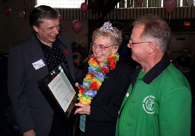 Presentation to Elsie Branton at her 80th birthday party  Photo by Pat Buttigieg