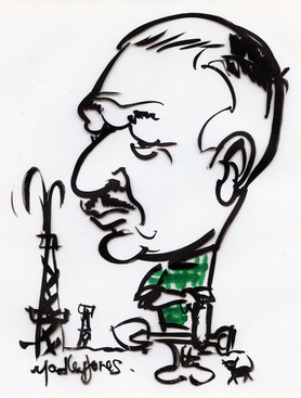 Caricature of Mr Baggs