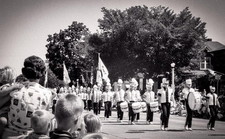 Toronto Optimists in summer parade uniforms (Racine, 1964)