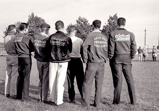 Some Optimists guys watching Del practice (Waterfront, 1960)