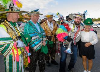 Doug, Brian, Rick and Matt with one of the Haeyneo (Oktoberfest, 2019)