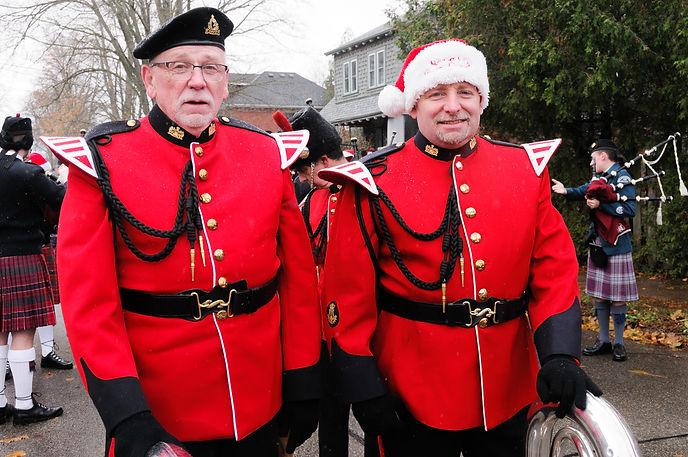 former Optimist Bill Kellas with his son, Toronto Signals (Guelph Santa Parade, 2017)