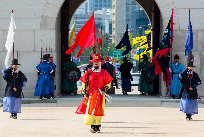 Changing of the guard at Gyeongbokgung Palace (Seoul, South Korea, 2017)