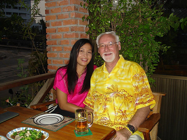 Dave Kirton & his wife, Nong, at home in Thailand (2007)