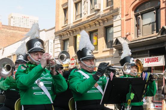 Doug, Rick and Soo, Optimists Alumni (Toronto St Patrick's Day Parade, 2017)