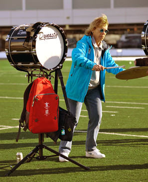 Carol Munro, rehearsing at St Mike's (2010)