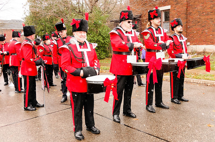 Toronto Signals {former Optimists drummer, Gord O'Halloran, on the left} (Guelph Santa Parade, 2017)