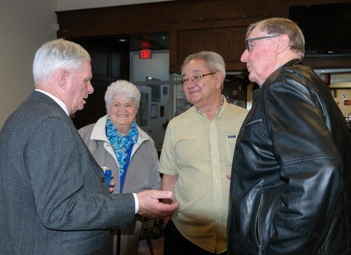 Vern Reid, Betty Hennings, Ron Chong and Phil Hennings (Remembering Paul Thompson, 2015)