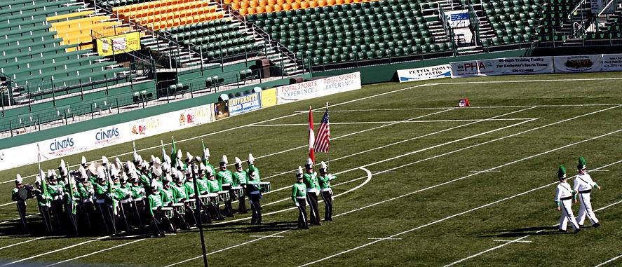 Optimists Alumni entering the field (Rochester, 2007)