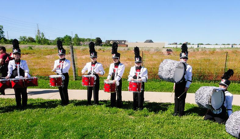 Members of Northstar Drums (Streetsville, 2017)