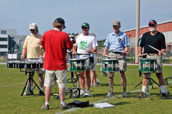Optimists Alumni rehearsaing (Sudbury, 2011)