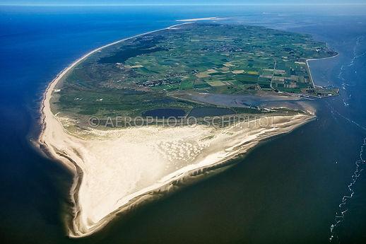 Texel; bron @ Aerophoto Schiphol.