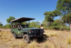 Zambia, Kafue NP, Mukambi Safari Lodge; koffie pauze!
