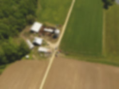 Drone over fields