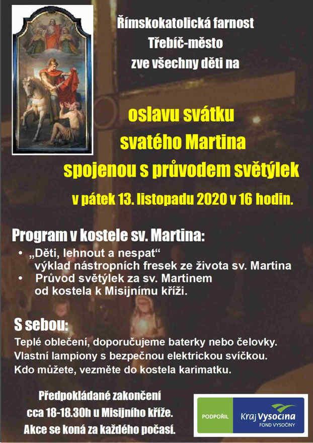 ZRUŠENO - Oslava svatého Martina - průvod světýlek.