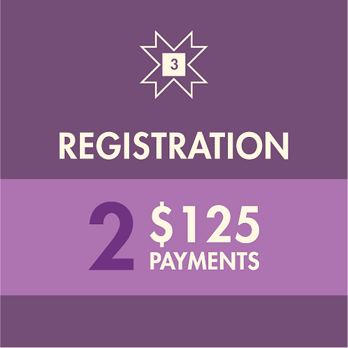 Registration Fee | Two-time Payment
