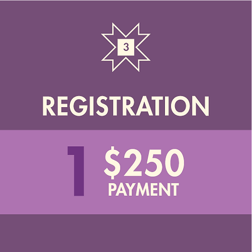 Registration Fee | One-time Payment