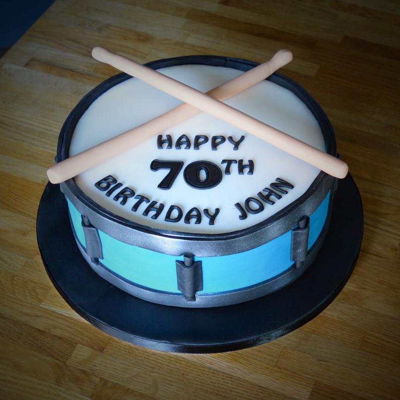 Drum Birthday Cake | Kingfisher Bakery, Wiltshire, UK