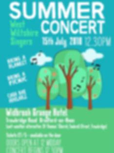 West Wiltshire Singers Summer Cocert Poster 2018