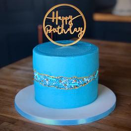Blue Faultline Cake | Kingfisher Bakery, Wiltshire, UK