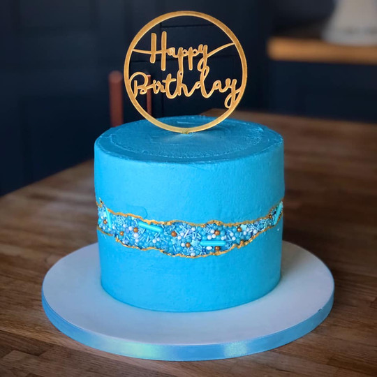Blue Faultline Cake | Kingfisher Bakery, Wiltshire, UK