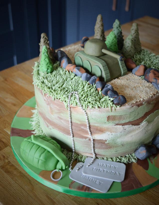 Army Cake | Kingfisher Bakery, Wiltshire, UK