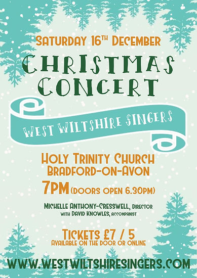 West Wiltshire Singers Christmas Concert Poster 2017