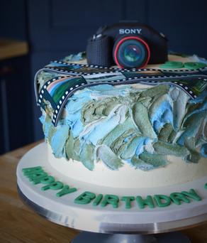 Photography Birthday Cake | Kingfisher Bakery, Staverton