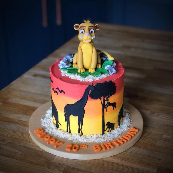 Lion King Birthday Cake | Kingfisher Bakery, Wiltshire, UK