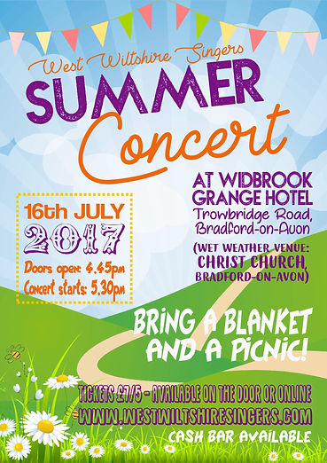 West Wiltshire Singers Summer Concert Poste 2017