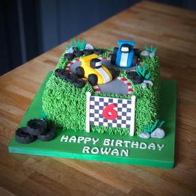 Go-Karting Birthday Cake | Kingfisher Bakery, Wiltshire, UK